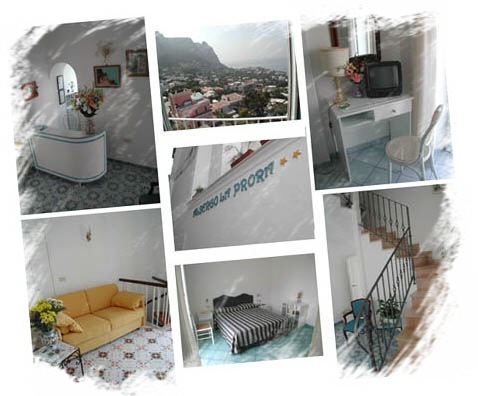 photo mosaic of the Hotel La Prora in Capri