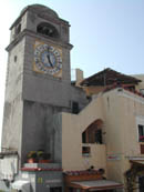 The clock tower of the capri's square